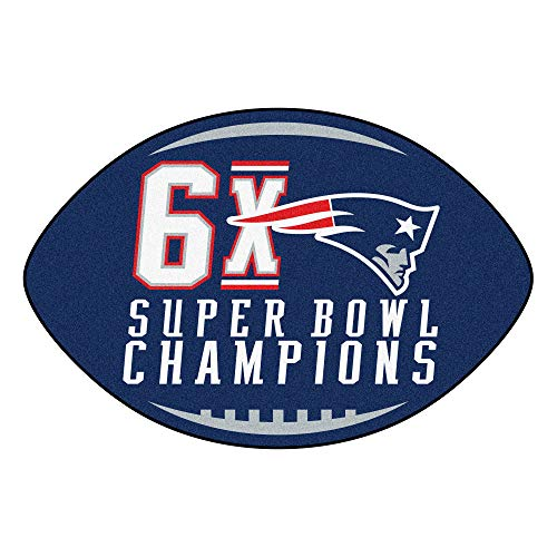 New England Patriots Football Rug - Fanmats 22274 NFL New England Patriots Super Bowl Football Rug