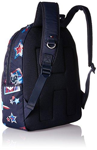 Tommy Hilfiger Kids Th Patch Backpack M - Zaini Bambino, Blau (Printed Patch), 13x40x29 cm (B x H T)