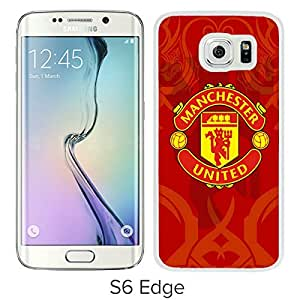 Beautiful Designed Case With Manchester United 6 White For Samsung Galaxy S6 Edge Phone Case