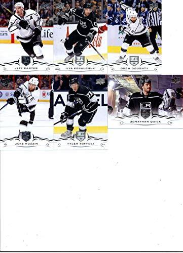 2018-19 Upper Deck Series 2 Hockey Los Angeles Kings Team Set of 6 Cards: Jeff Carter(#334), Ilya Kovalchuk(#335), Jonathan Quick(#336), Drew Doughty(#337), Jake Muzzin(#338), Tyler Toffoli(#339) ()
