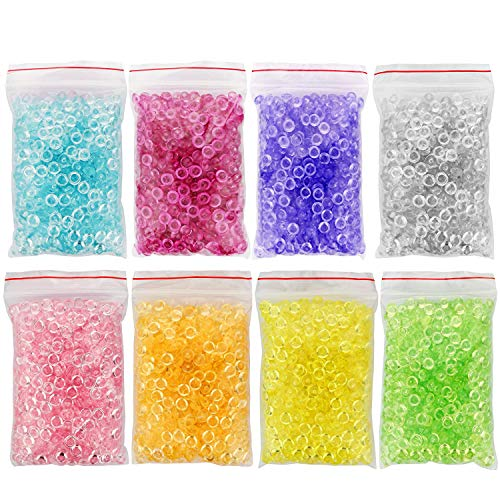 8 Colors Fishbowl Beads for Crunchy Slime – Clear 12 Ounce, Plastic on vase fillers michaels, candle filler beads, plant filler beads, bean bag filler beads, pillow filler beads, large faux pearl beads, floating beads, coral water beads, christmas beads, milk bottle filler beads, oversized pearl beads, vase fillers for centerpieces, vase stands walmart, glass beads, plastic filler beads, vase fillers for weddings, extra large acrylic beads, bath beads, water gel beads, moisture absorbing beads,