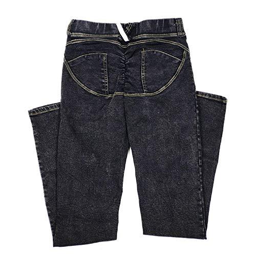 Jeans Vaqueros Denim Alta Cintura Jegging Bolsillo Fit De Básico Casuales Con Pantalones Mujeres Slim Grau Pitillo Las Estiramiento Botones TwdTfFRq