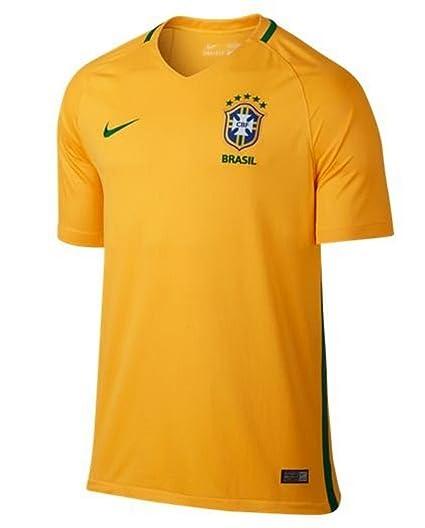 Nike Brazil Home Stadium Soccer Jersey X Large Yellow
