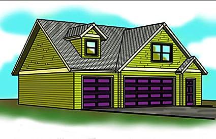 Three Car Garage Plans   38u0027 X 30u0027 , Living Space Above   Dormers
