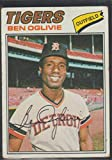 1977 Topps Ben Oglivie Tigers Baseball Card #122