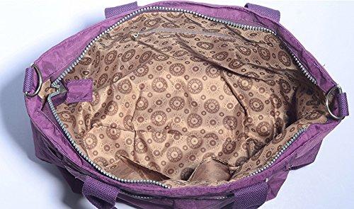 Bolso de la momia, bolso de la madre del hombro del bolso, maternal y niño bebé de gran capacidad multifuncional fuera del bolso ( Color : Azul oscuro ) Morado oscuro