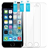 iPhone SE Screen Protector iPhone 5 Screen Protector New Trent Arcadia Premium High Quality Thin Clear Transparent Screen Protector, Compatible with Apple iPhone SE, iPhone 5s, iPhone 5, iPhone 5c (3-pack)