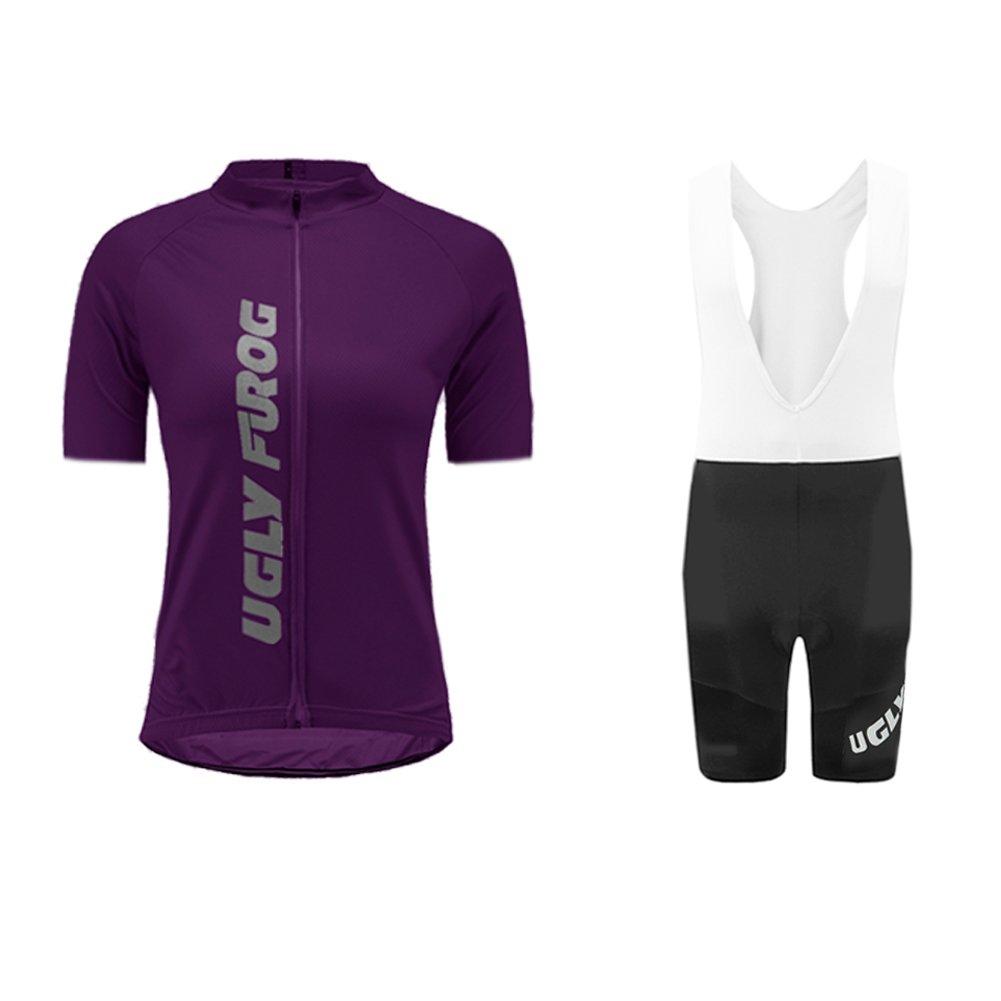 Uglyfrog Damen Trikot Set Sportanzug Kurzarm Zip Slim Fit Kurz H/ülse Top Hemd Short Pants Outdoor Fahrrad DTWX01F
