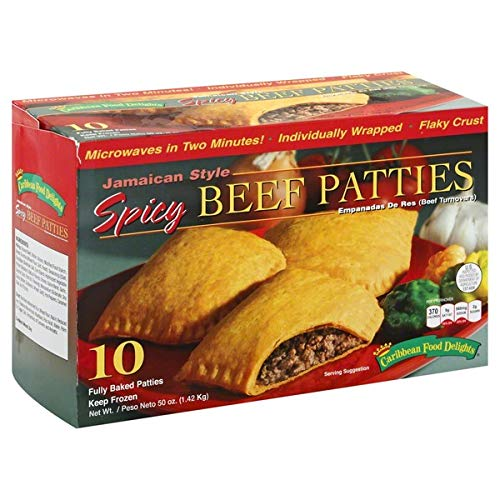Jamaican Style Patties, Baked (Spicy), individually Wrapped Patties (10)