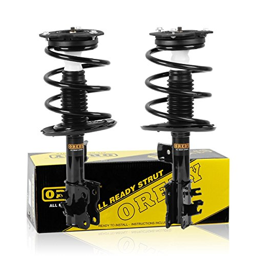 And Springs Struts (OREDY Front Pair 2 Pieces Complete Quick Struts Shock Coil Spring Assembly Kit 11597 11598 2331839L 2331839R compatible with 2007 2008 2009 2010 2011 2012 Nissan Altima 6 CYL)