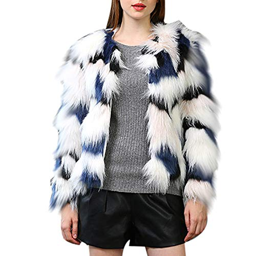 Coat Sdoo,Women Winter Warm Thick Coat Overout Jacket Faux Fur Parka Outwear Cardigan (Blue, s) ()