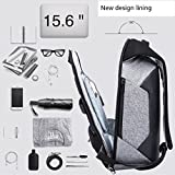 Wonder Anti Theft Slim Laptop knapsack, with Useful Headphone & USB Charging Port, Convenient softback for Comfortable Travel. Unisex, Waterproof & Rainproof Backpack, fits 15.6 inch Laptop