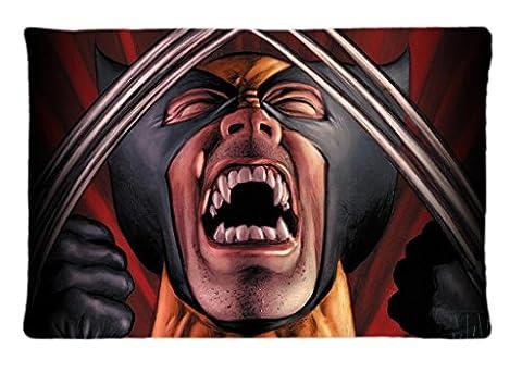 Wolverine X Men Comic Custom Pillow Cover Fashion Bedroom Decorative Throw Pillow Case Stander Size(20x30 (Wolverine Xmen Bedding)