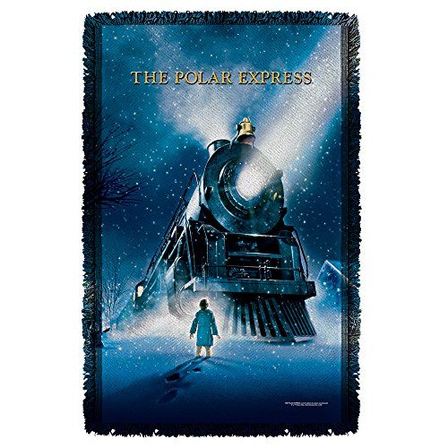 Movie Poster -- The Polar Express -- Woven Throw Blanket (Polar Express Movie Poster)