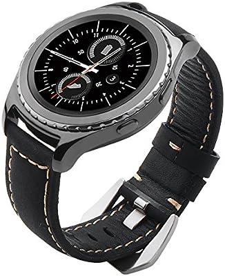 Galaxy Watch 42mm Band, Gear S2 Classic Bands, Gear Sport Band, Maxjoy 20mm Leather Replacement Strap for Samsung Galaxy Watch 42mm/Gear S2 Classic SM-R732 SM-R735/Gear Sport SM-R600 Smartwatch, Black - 10158165 , B06XYGBNWF , 285_B06XYGBNWF , 586178 , Galaxy-Watch-42mm-Band-Gear-S2-Classic-Bands-Gear-Sport-Band-Maxjoy-20mm-Leather-Replacement-Strap-for-Samsung-Galaxy-Watch-42mm-Gear-S2-Classic-SM-R732-SM-R735-Gear-Sport-SM-R600-Smartwatch-Black-285