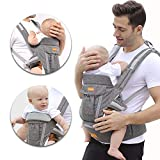 Baby Carrier, Toddlers Strap Waist Stool 3-in-1 Infant Sling 6 Comfortable & Safe Positions Soft Structured for All Shapes and Seasons Best Baby Gift Grey