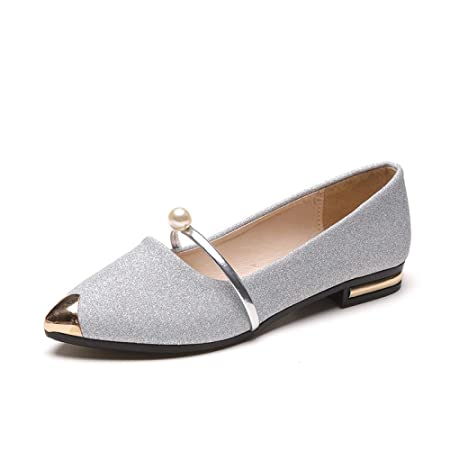 Autumn Casual Single Shoes Female Black Wild Pointed Shallow