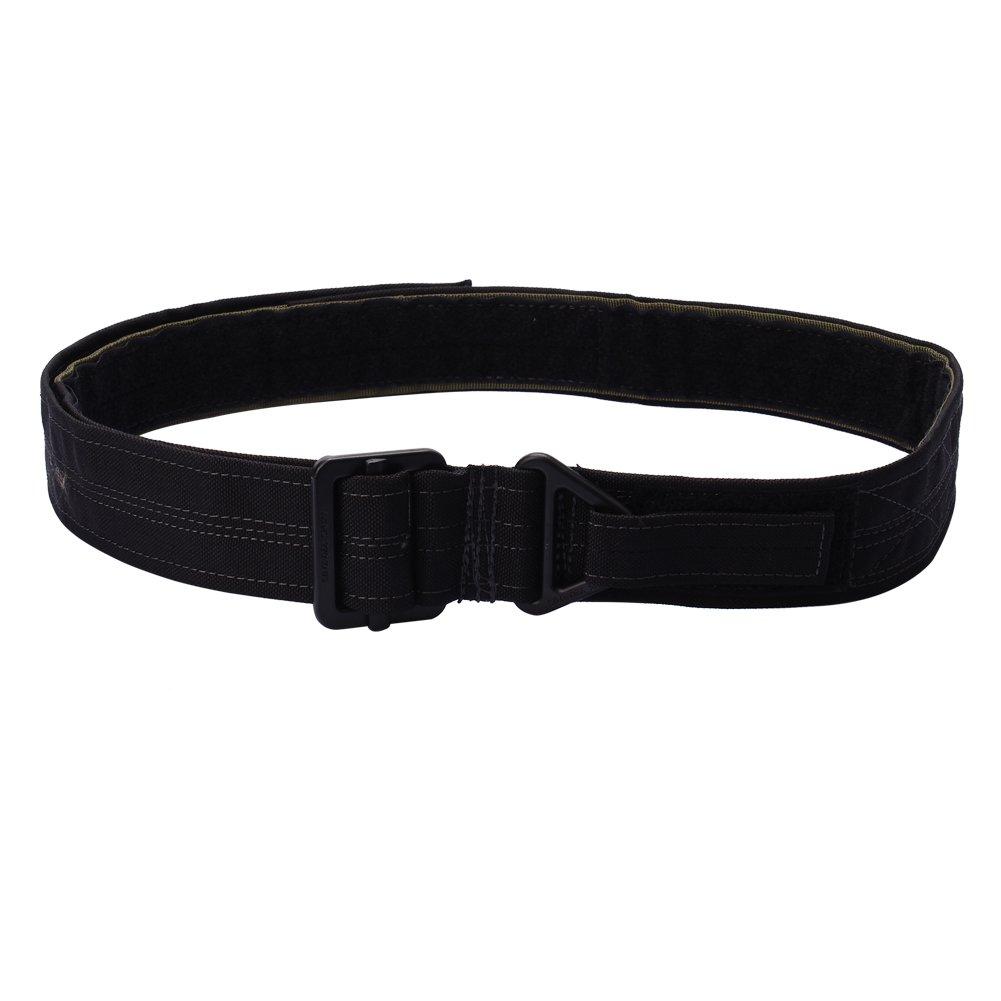 OUTRY CQB Cinturón Táctico Ajustable de Caza de Militar (Negro)