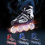 Bazaar Unisex Adjustable Four Flashing Wheels Skates Shoes Wear-resisting Rollerblade Skate Shoes