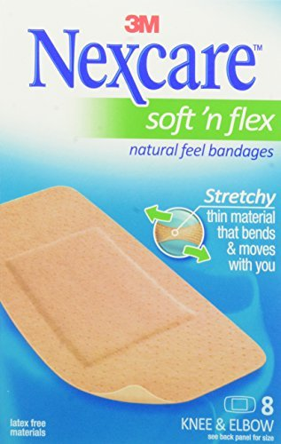 Nexcare Comfort Flexible Fabric Bandage, Knee and Elbow, ...