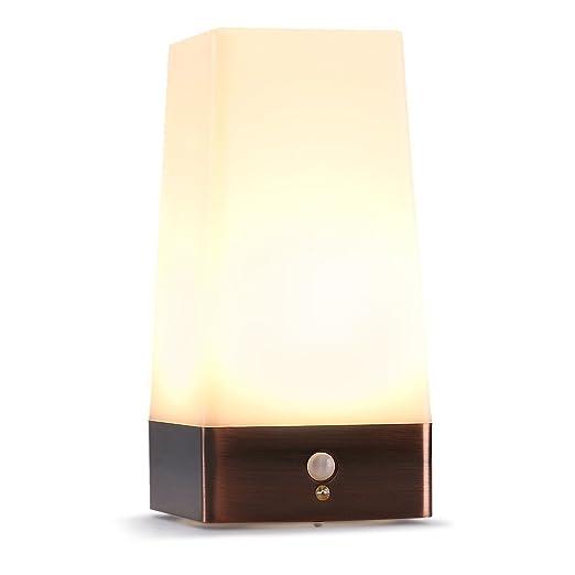 15 opinioni per LEDemain® Lampada da Tavolo a LED Wireless PIR con Sensore di Movimento, Luce