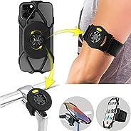 "Bone Run + Bike Tie Connect Kit, 360° Rotation Universal Bike Phone Mount + Running Armband, Fits 4.7""-7."