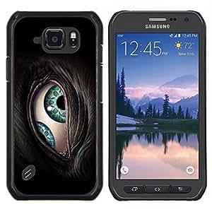 """Be-Star Único Patrón Plástico Duro Fundas Cover Cubre Hard Case Cover Para Samsung Galaxy S6 active / SM-G890 (NOT S6) ( El Cyborg de ojos"""" )"""