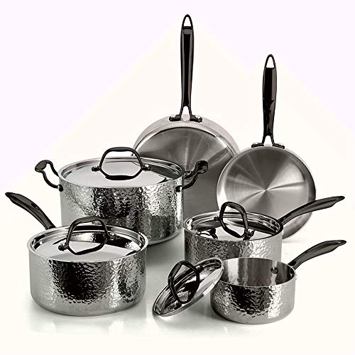 FLEISCHER AND WOLF Stainless Steel Pots and Pans Set...