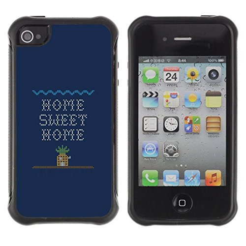 Apple Iphone 4 / 4S - Home Sweet Home Quote Art Computer Game