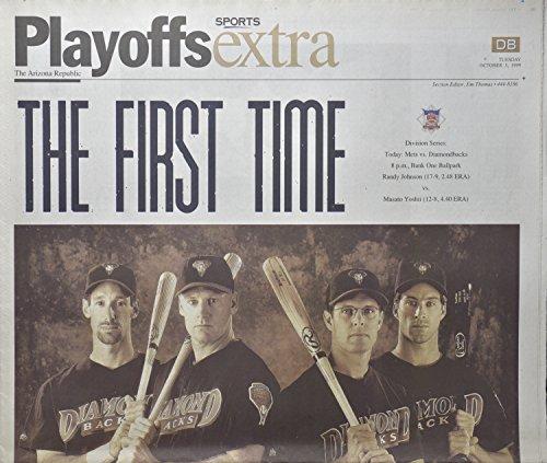 1999 - Oct 5 - The Arizona Republic - The First Time / Diamondbacks Playoffs - World Series - OOP / Rare