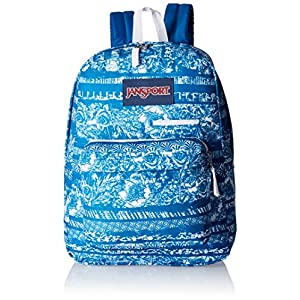 JanSport Digibreak Backpack - 1550cu in Midnight Sky Floral Stripe, One Size