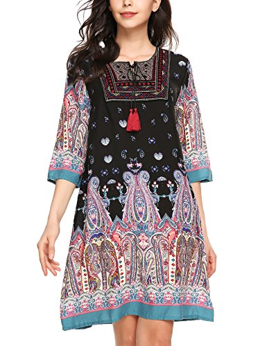 Buy embroidered cotton tunic dress - 5
