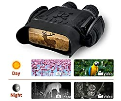 "Rainier Gear NV-900 4.5 X 40mm Digital Night Vision Binocular with Time Lapse Function Takes HD Image & 720p Video with 4"" LCD Widescreen from 400m/1300ft in The Dark w/ 32G Memory Card"
