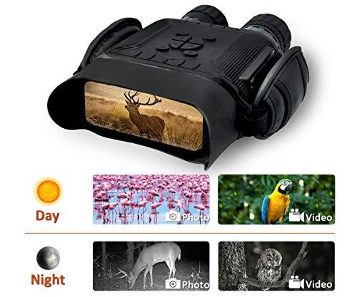 Rainier Gear NV 900 Digital Night Vision Binocular - 40 mm Aperture, HD Image, 4 in. LCD Screen, 4.5X Magnification, 5X Zoom, 400m/1300ft in The Dark w/ 32G Memory Card ()