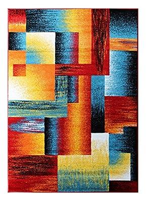 Modern Contemporary Area Rug, Multi Colors
