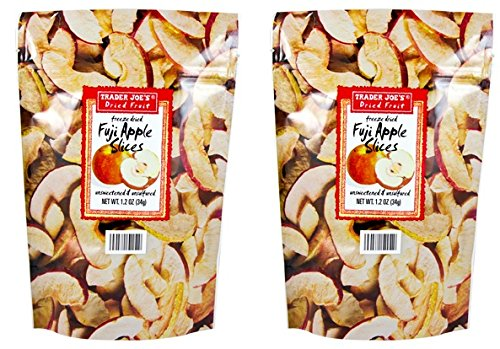 - Trader Joe's Dried Fruit Fuji Apple Slices 1.2 oz (Pack of 2)