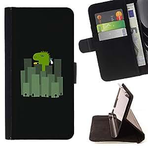 For Samsung Galaxy A5 ( A5000 ) 2014 Version Case , Japón Ciudad Minimalista Negro Cartoon- la tarjeta de Crédito Slots PU Funda de cuero Monedero caso cubierta de piel
