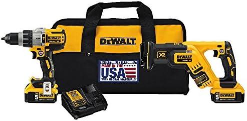 DEWALT 20V MAX XR Cordless Drill Combo Kit, Brushless, 5.0-Ah, 2-Tool DCK294P2