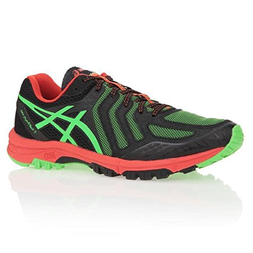 Gel-FujiAttack 4 - Zapatillas de Trail Running para Mujer, Color Negro (Black/Pistachio/Wild Raspberry 9087), Talla 37.5 Asics