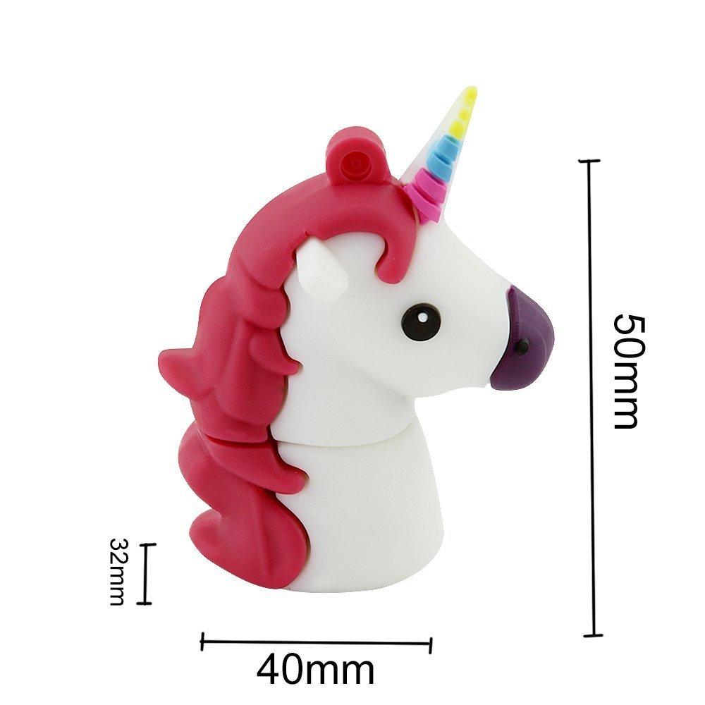 Novelty Unicorn Shape Design 16GB USB 2.0 Flash Drive Cute Memory Stick Horse Thumb Drive Data Storage Pendrive Cartoon Jump Drive Gift by Yatai (Image #4)
