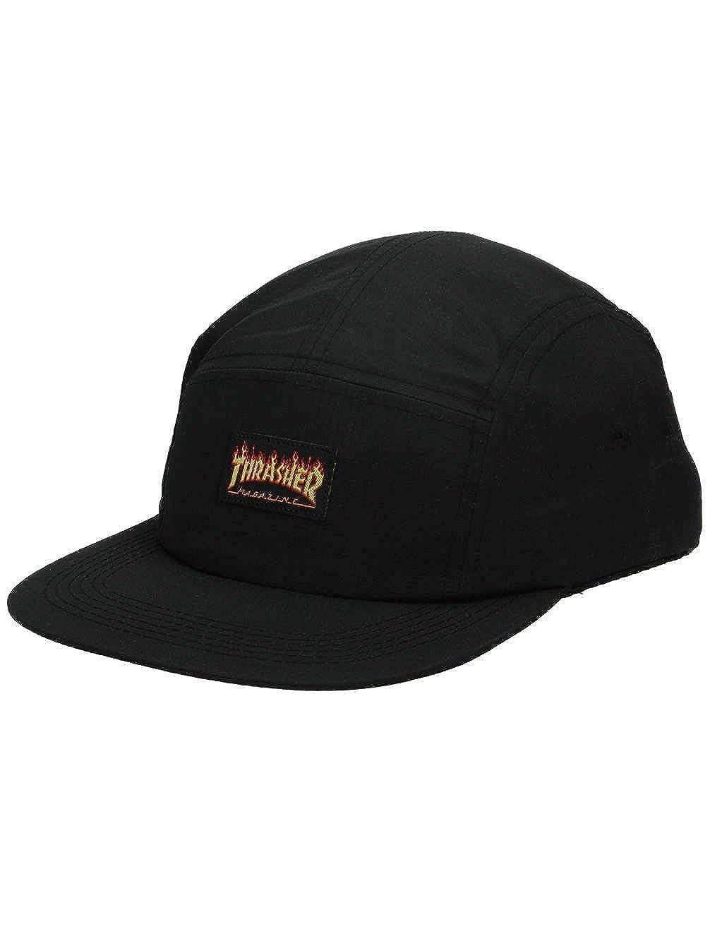 Thrasher Flame Logo black 5 Panel Cap  Amazon.co.uk  Clothing 406cef76991