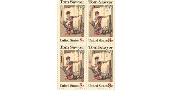 Tom Sawyer Set of 4 x 8 Cent US Postage Stamps NEW Scot 1470