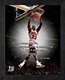 Michael Jordan Chicago Bulls NBA ProQuotes® Photo (Size: 17'' x 21'') Framed