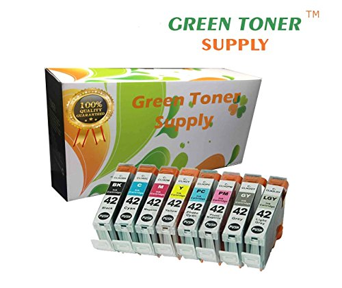 Green Toner Supply (TM) Brand New Compatible [CLI-42] Inkjet Cartridge replacement for printer, 8 Colors Pack
