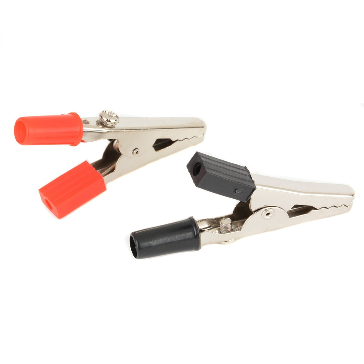 10 x 52mm Crocodile Clips Insulated Plastic Handle Cable Lead Testing Alligator Clamps