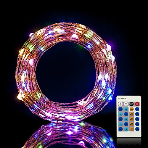 Are Led String Lights Dimmable : Led Dimmable Multi-Color String Lights 100LEDs 33ft Copper Wire Lights with Remote Control ...