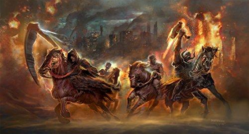 Canvas Print Home Decor Art Painting (No Frame), Four Horsemen of the Apocalypse, Michal Matczak