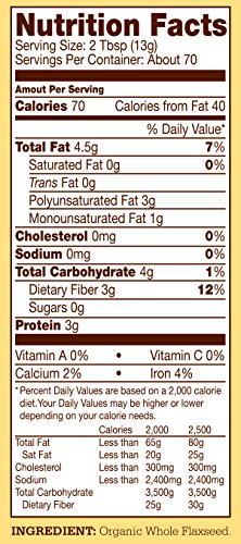 Bob's Red Mill Organic Brown Flaxseed Meal, 32 Ounce (Pack of 4) (Package May Vary) by Bob's Red Mill (Image #10)