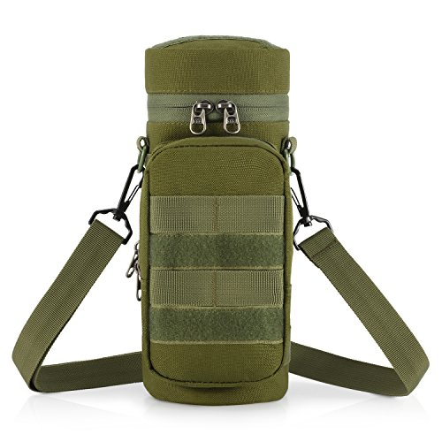 Gonex Tactical Molle Water Bottle Pouch H2O Hydration Carrier (Olive)