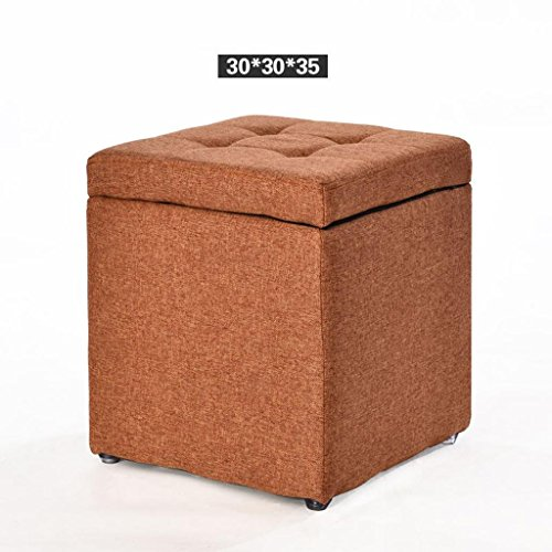 Creative Wood Fabric Changing Shoes Stool Storage Stool Stool Sofa Stool Tea Table Stool Square Stool Household Living Room, a8,Strong